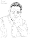 Cartoon: Philip Glass II (small) by Pascal Kirchmair tagged philip,glass,illustration,drawing,zeichnung,pascal,kirchmair,cartoon,caricature,karikatur,ilustracion,dibujo,desenho,ink,disegno,ilustracao,illustrazione,illustratie,dessin,de,presse,du,jour,art,of,the,day,tekening,teckning,cartum,vineta,comica,vignetta,caricatura,portrait,retrato,ritratto,portret,kunst,minimal,music,baltimore,maryland,composer,musician,musik,musiker,komponist,usa,porträt