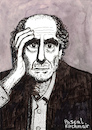 Cartoon: PHILIP ROTH (small) by Pascal Kirchmair tagged philip,roth,portrait,retrato,dibujo,dessin,drawing,ritratto,disegno,illustration,pascal,kirchmair,caricature,usa,newark,new,jersey,ilustracao,ilustracion,portret,cartum,desenho,karikatur,cartoon