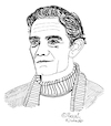 Cartoon: Pier Paolo Pasolini (small) by Pascal Kirchmair tagged pier,paolo,pasolini,cartoon,caricature,karikatur,ilustracion,illustration,portrait,retrato,pascal,kirchmair,dibujo,desenho,drawing,zeichnung,ritratto,disegno,ilustracao,illustrazione,illustratie,dessin,du,jour,art,of,the,day,tekening,teckning,cartum,vineta,comica,vignetta,caricatura,ecrivain,schriftsteller,writer,author,auteur,autore,autor,film,director,regisseur,poet,metteur,en,scene,realisateur