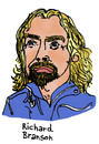 Cartoon: Richard Branson (small) by Pascal Kirchmair tagged sir,richard,branson,virgin,radio,unternehmer,abenteurer,milliardär,order,of,the,british,empire