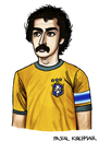 Cartoon: Roberto Rivelino (small) by Pascal Kirchmair tagged roberto rivelino brasilien weltmeister caricature cartoon karikatur brasilianischer fußball 1970
