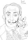 Cartoon: Salvador Dali with ocelot (small) by Pascal Kirchmair tagged ocelot,ocelote,ozelot,salvador,dali,marquis,marques,de,pubol,cartoon,caricature,karikatur,drawing,zeichnung,illustration,illustrazione,pascal,kirchmair,ilustracion,portrait,retrato,dibujo,desenho,ritratto,disegno,ilustracao,illustratie,dessin,du,jour,art,of,the,day,tekening,teckning,cartum,vineta,comica,vignetta,caricatura,artist,artista,artiste,kunst,künstler,maler,painter,peintre,pintor,pittore,wacom,cintiq,21,ux,digital
