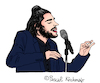Cartoon: Salvador Sobral (small) by Pascal Kirchmair tagged esc salvador sobral amar pelos dois cartoon caricature karikatur desenho illustration eurovision song contest portugal dibujo dessin zeichnung drawing
