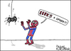 Cartoon: Spider-Man (small) by Pascal Kirchmair tagged spider man spiderman cartoon karikatur angst afraid fear dibujo disegno dessin drawing desenho vignetta araignee ragno