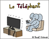 Cartoon: Telephant (small) by Pascal Kirchmair tagged telefant telephant telefante cartoon vignetta karikatur caricature dessin humour humor dibujo desenho disegno zeichnung