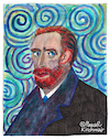 Cartoon: Vincent Willem van Gogh (small) by Pascal Kirchmair tagged vincent,willem,van,gogh,portrait,retrato,drawing,dibujo,desenho,disegno,dessin,zeichnung,caricature,karikatur,pascal,kirchmair,watercolour,aquarell,acuarela,aguarela,ritratto,cartoon,illustration,ilustracion,ilustracao