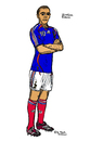 Cartoon: Zinedine Zidane (small) by Pascal Kirchmair tagged zinedine,zidane,zizou,illustration,caricature,dessin,karikatur,cartoon,france,frankreich