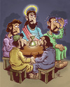 Cartoon: caliz (small) by pali diaz tagged jesus,judas,caliz