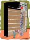Cartoon: Browsing (small) by kar2nist tagged library,books,browsing,accidents,searching