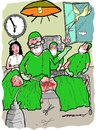 Cartoon: delivery par excellence (small) by kar2nist tagged delivery,stork,cesarian,hospital,baby