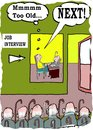 Cartoon: job interview (small) by kar2nist tagged interview,job,old,age,candidates