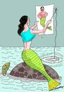 Cartoon: Looking  for a mate (small) by kar2nist tagged mermaid,fishing,mate