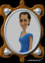 Cartoon: Niki in the hole of Frame (small) by kar2nist tagged niki,nicoleta,ionescu,caricature