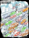 Cartoon: URBAN MOBILITY (small) by kar2nist tagged world,habitat,day,pollution,riding,traffic,jams,cycling