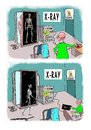Cartoon: x-ray woes (small) by kar2nist tagged xray,skeletons