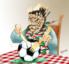 Cartoon: Algerie - Egypte (small) by Majdoub Abdelwaheb tagged foot