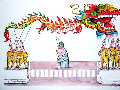 Cartoon: Dragon story (medium) by axinte tagged axi