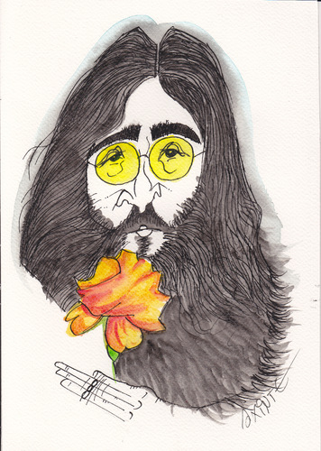 Cartoon: lennon (medium) by axinte tagged axi