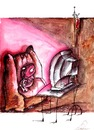 Cartoon: bloody TV (small) by axinte tagged axinte