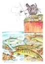 Cartoon: summer fishing (small) by axinte tagged axinte