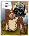 Cartoon: Episode 7 - Brand im Morgentau (small) by Bülow tagged star,wars,darth,vader,krieg,sterne,alkohol,drunk