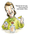 Cartoon: Harald Gusche - Tequila (small) by Bülow tagged alkohol,schnaps,tequila,obst,ernährung,gesundheit,vitamine