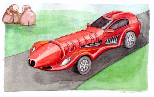 Cartoon: Macchina del c. (medium) by Niessen tagged cars