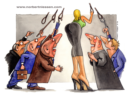Cartoon: The center of universe (medium) by Niessen tagged culo,femmina,donna,guardoni,occhi,tram,uomini,hintern,weiblich,frau,voyeure,augen,straßenbahn,männer,ass,female,woman,voyeurs,eyes,men