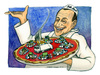Cartoon: Bella Napoli (small) by Niessen tagged berlusconi,garbage,spazzatura,pizza,napoli,naples