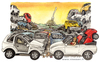 Cartoon: Cars (small) by Niessen tagged cars crowd spaghetti autos menge