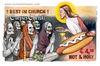 Cartoon: Corpus Christi (small) by Niessen tagged religiöse bischof priester homosexuelle unrein tunika beten