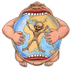 Cartoon: Crescita infinita (small) by Niessen tagged eat world hunger africa growth essen welt wachstum