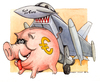 Cartoon: Eurofickther (small) by Niessen tagged euro eurofighter fuck sparschwein schwein