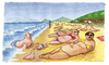 Cartoon: Foche a riva (small) by Niessen tagged beach,seal,italy,tuscany,summer,relax