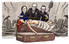 Cartoon: Il governo dei tecnici (small) by Niessen tagged italy,government,grave,dead