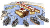 Cartoon: Invasione (small) by Niessen tagged immigration africa cake hunger italy boat people