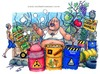 Cartoon: Land of fire (small) by Niessen tagged garbage waste toxic fire italy south campania mozzarella fruits farmer supermarket
