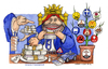 Cartoon: Mangiasoldi (small) by Niessen tagged money pig politician gangster