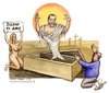 Cartoon: Miracolo Italiano (small) by Niessen tagged berlusconi,italy,mumie,auferstehung