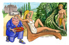 Cartoon: Perfect man (small) by Niessen tagged prince,king,toad,frog,castle,rolls,royce,tarzan,faun,wild,beautiful,desire