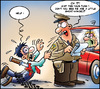 Cartoon: Police - Cut (small) by Carayboo tagged police,staff,security,strike,drunk,violence,car,speed,knife,ticket,route