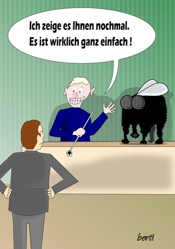 Cartoon: Der nette Kollege (medium) by berti tagged inkscape,wichtigtuer,geschiss,elephant,fly,elefant,mücke