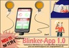 Cartoon: Blinker App (small) by berti tagged smarthone,blinken,auto,fahrrad,verkehr,traffic,inkscape