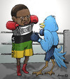 Cartoon: Sports Minister Fikile Mbalula (small) by donno tagged twitter,twar,fikile,mbalula,basson,box,boxing
