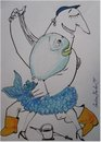 Cartoon: Tango (small) by galina_pavlova tagged fisherman