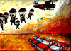 Cartoon: Desant (small) by drljevicdarko tagged taxi and army