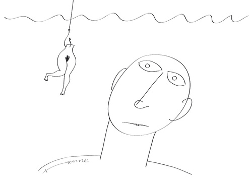 Cartoon: the bait (medium) by Herme tagged love,relationship