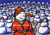 Cartoon: Be creative! (small) by BiSch tagged santa,claus,weihnachtsmann,schneemann,karotte,winter,weihnachten
