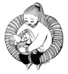 Cartoon: Milchfabrikation (small) by BiSch tagged stillen,nursing,breastfeeding,mutter,mother,baby,muttertag,milk,milch