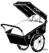 Cartoon: Vampirbaby (small) by BiSch tagged halloween,vampir,kinderwagen,baby,sarg